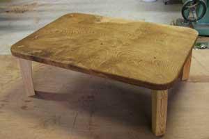 欅一枚板小座卓