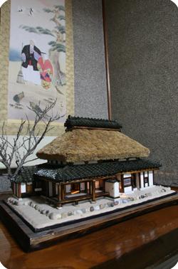 古民家の模型