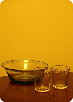 石川昌浩さんの鉢と網目コップ