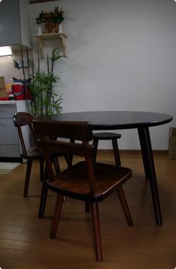 くるみの丸テーブル達