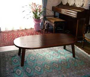 楕円ティーテーブル
